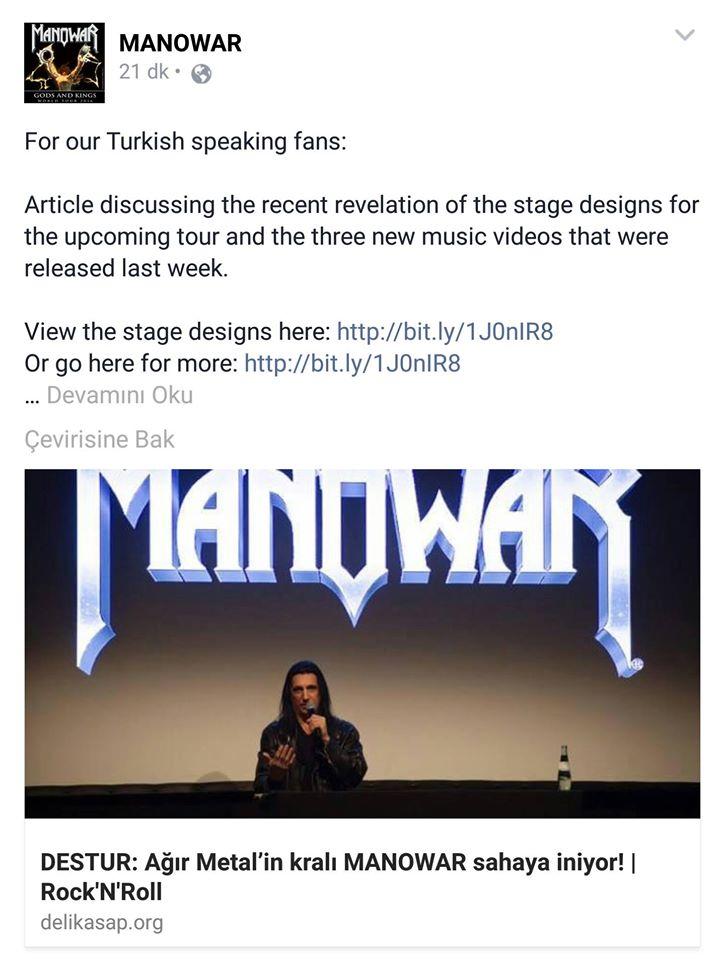 You are currently viewing Dünyanın en büyük metal gruplarından biri Delikasap'a destur çekti