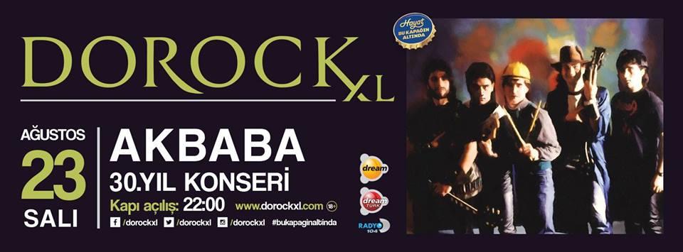 Read more about the article Akbaba konseri var; kaçırmayın! 30. Yıl konseri Dorock XL'ta