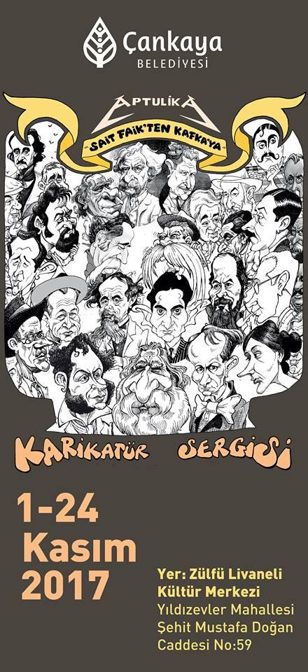 You are currently viewing Aptül, çizimlerini Ankara'ya taşıdı; Karikatür Sergisi 1-24 Kasım'da Ankara'da