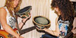 James Hetfield ile Dimebag Darrell'in bodrum katta Metallica keyfi