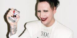 Marilyn Manson, gazetecinin t.şşaklarını burdu