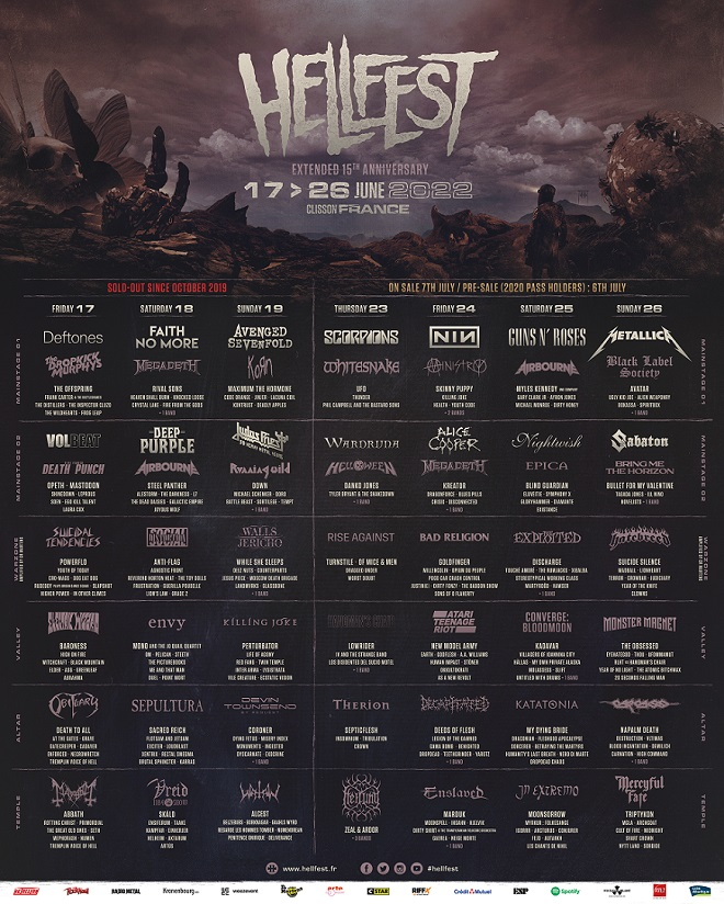Read more about the article ADINI HAK EDEN FESTİVAL: HELLFEST 2022